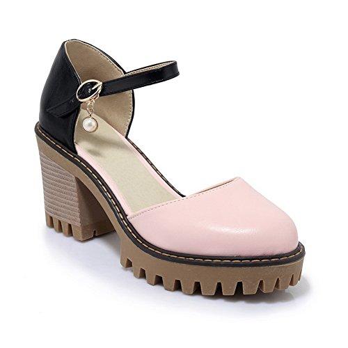 Sandals Sandals AN DIU00665 Toe Urethane Light Womens Weight Pink Closed aZnAxZ