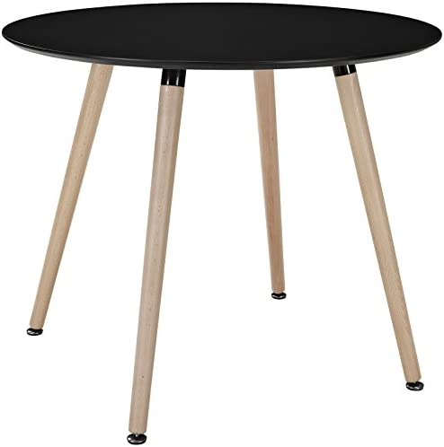 Modway Track 36 Contemporary Modern Round Kitchen and Dining Room Table