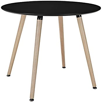 Modway Track Circular Dining Table, Black