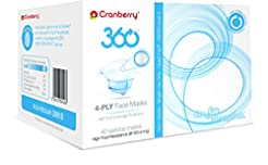 Cranberry 360 Earloop Face Mask Level 3,...