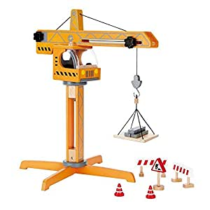 Award Winning Hape Playscapes Crane Lift Playset Wooden Construction Toy