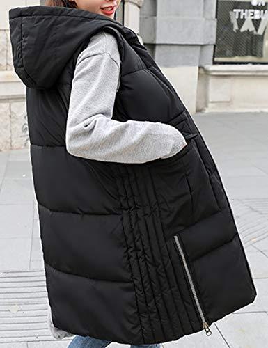 Outdoor Piumino Per Donna Giacche Autunno Waistcoat Lunga Senza Bodywarmer Giacca Black Ladies Inverno Zhhlaixing Maniche Ultraleggeri Gilet Vest xzZInEwIR