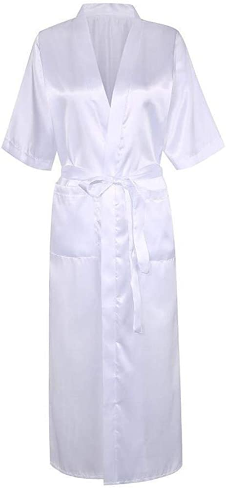 G-String Underwear MIRRAY Dressing Gown Womens Kimono Robe Sleepwear Ladies Belt Satin Long Bathrobe Woman Sleepwear Babydoll Lingerie Nightdress