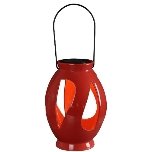 Kenroy Home 60525RED Leaves Solar Lantern, Red by Kenroy Home