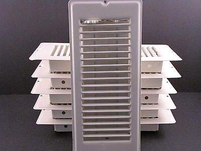 White Floor Registers 4 X 10 Lot of 6