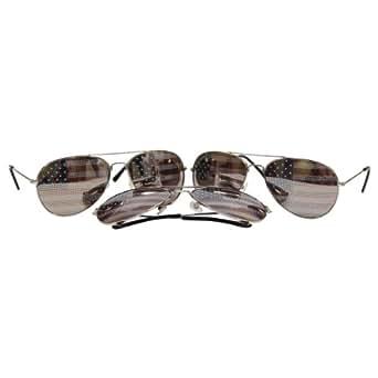 3 American Flag Aviator Sunglasses 3 Pairs