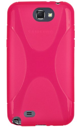 mumbi X-TPU Silikon Schutzhülle für Samsung Galaxy Note 2 pink pink