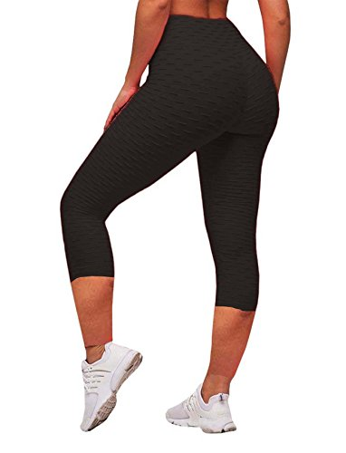 deb21edac23b2 SEASUM Women's High Waist Yoga Pants Tummy Control Slimming Booty Leggings  Workout Running Butt Lift Tights M