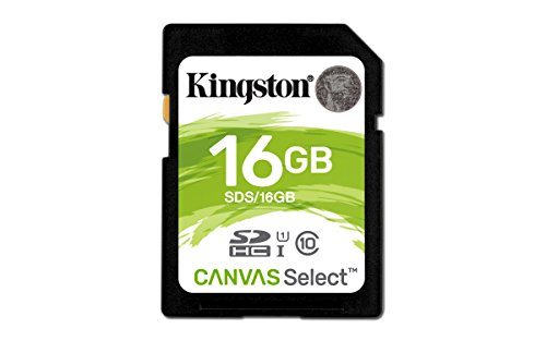 Kingston Canvas Select 16GB SDHC Class 10 SD Memory Card UHS-I 80MB/s R Flash Memory Card (SDS/16GB)