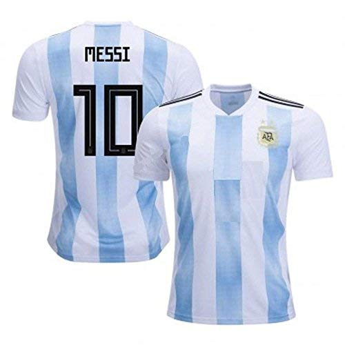 1c245ef60 Shoes Shoes Argentina Jersey and Shorts 2018 World Cup with Messi Printed  kit White Blue(Argentina Jersey Messi Messi Tshirt (Small)  Amazon.in   Clothing   ...