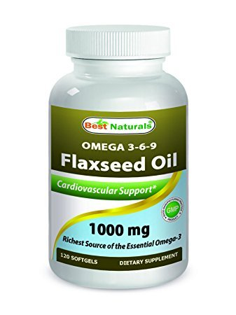 Best Naturals Flaxseed Oil 1000 mg 120 Softgels by Best Naturals