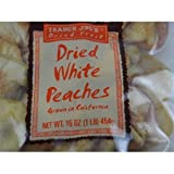 Trader Joe's Dried White Peaches 16. oz bag