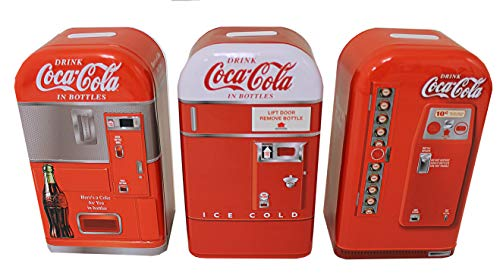 Coca-Cola Vending Machine Tin Banks (Set of 3)
