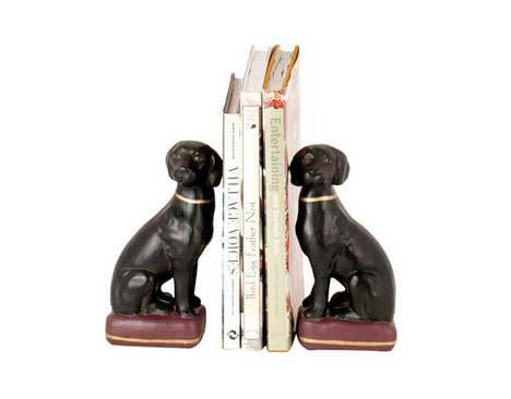 Import Collection Black Labrador Bookends ()