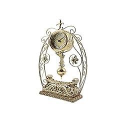 Unique Creative Style Desk Shelf Mantel Decorative Clock with Swinging Pendulum (DYD-66215B)