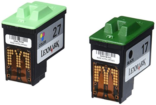 Lexmark Twin Pack #17 Black and #27 Color Print Cartridges-