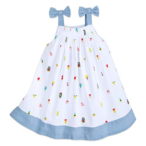 Disney Mickey and Minnie Mouse Summer Fun Woven Dress for Baby Size 9-12 MO Multi