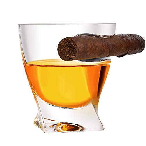 Linber Cigar Whiskey Glass ,Best Whiskey Glass 2020 New Design With Cigar Holder