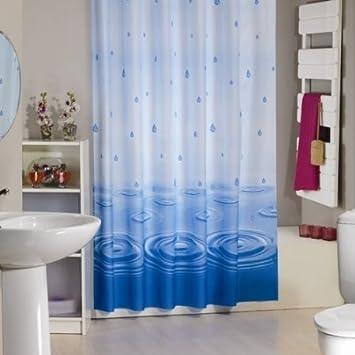 Wohnideen Shop wohnideenshop wassertropfen duschvorhang textil 120cm breit x 200cm