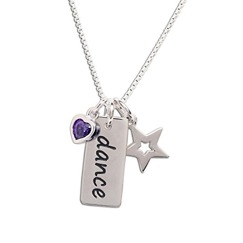 Cubic Lavender Zirconia Star (Girls Sterling Silver
