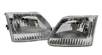 Holiday Rambler Admiral 2004-2007 RV Motorhome Pair (Left & Right) Replacement Front Headlights with Bulbs by BuyRVlights (Image #1)