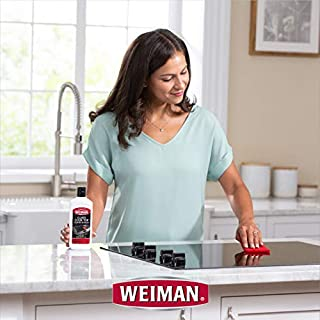 Weiman Glass Cooktop Cleaner - lady cleaning