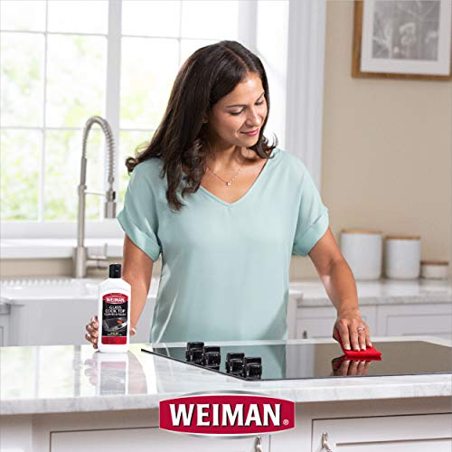 Weiman Cook Top Scrubbing Pads, 18 Count, 6 Pack Cuts Through the Toughest Stains - Scrubbing Pads Carefully Wipe Away Residue by Weiman (Image #3)