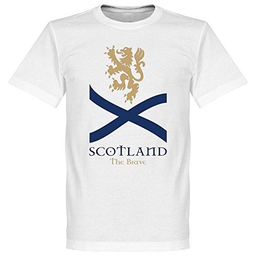 Scotland The Brave Saltire tee - Playera de Manga Corta, Color Blanco, Blanco, XXX-Large