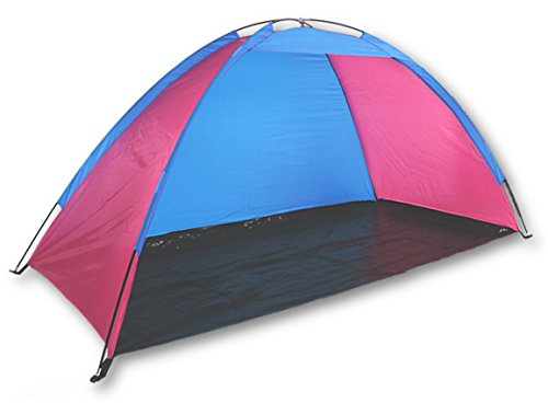 Sol Summer Shade Beach Tent Sun Shelter with Stakes and Carrying Case