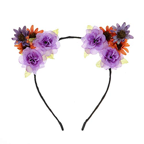 Flower Hair Crown Boho Ladies Floral Festival Wedding Beach Party Garland HeadBands Sunmoot -