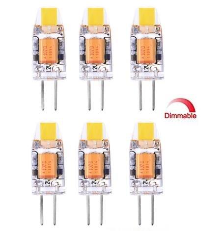 Best to Buy (10-PACK) Dimmable 3Watt 5WATT G4 LED Bi-Pin base 12V Light Bulb Warm White 2700K Waterproof Halogen G4 20W led Replacement - 20w Halogen Bulb 4mm Pin