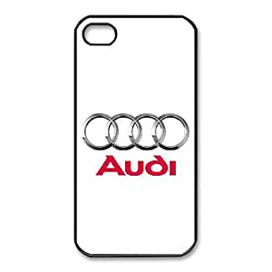 iPhone 4,4S Cell Phone Case Black Audi Plastic Durable Cover Cases derf6976174