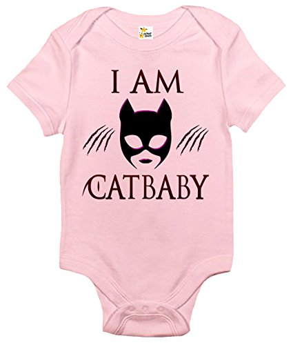 Rapunzie I Am Catbaby Baby Bodysuit Cute Baby Clothes For Infant Boys and Girls (Pink, 0-3 -
