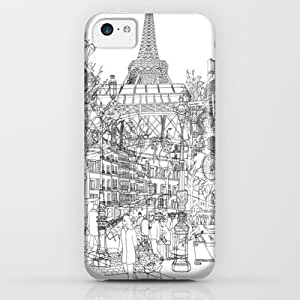 Society6 - Paris! B&w iPhone & iPod Case by David Bushell
