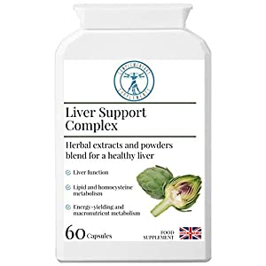 Liver Support Complex | Healthy Liver & Gallbladder Formula | Traditional Herbal Blend with Added Nutrients | Artichoke | Liquorice | Dandelion | Burdock | Vegetarian | Made in The UK | 60 Capsules