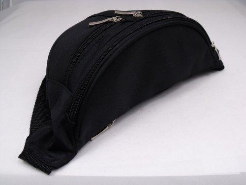 41xlyOUHLLL - NEW BLACK BUM BAG MONEY WALLET DESIGNED BY LORENZ 2050