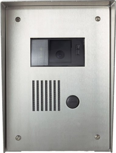 - Aiphone KA-FSH Vandal- and Weather-Resistant Stainless Steel Housing for KA-DAR, KB-DAR, and KC-DAR Audio/Video Door Stations, Flush Mount