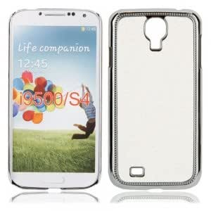 Electroplated Glitter Protective Case for Samsung S4 i9500 White