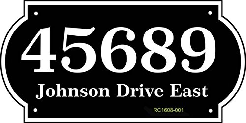Address Holders Plaque - Comfort House Large Home Address Sign - Address Plaque Personalized with Your House Number and Street Name RC1608001