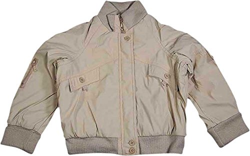(Private Label - Little Girls' Zip Front Faux Leather Jacket, Tan 6790-6)