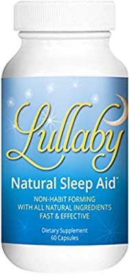 NATURAL SLEEP AID - Melatonin, Passion Flower, Montmerency Tart Cherry, Lemon Balm, Chamomile, and More! - Lullaby Contains All Natural Ingredients - Drug-Free Herbal Sleep Aid - No Side Effects - Non-Habit Forming - Fast and Effective Natural Sleeping Pi