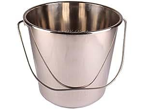 Toolzone - Cubo de acero inoxidable (12 L)