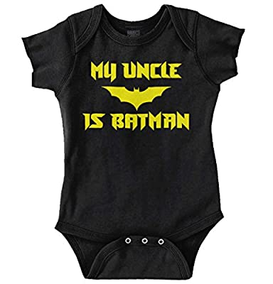 Uncle is Batman Funny Cute Baby Nerd DC Comic Romper Bodysuit