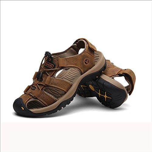 Agua Para 38 Trekking Puntera Pescador Pakamo Sandalias eu41 Zapatillas Zapatos Deporte Con De Cerrada Playa Eu Cuero Brown Fftx Hombre nZBx7xq