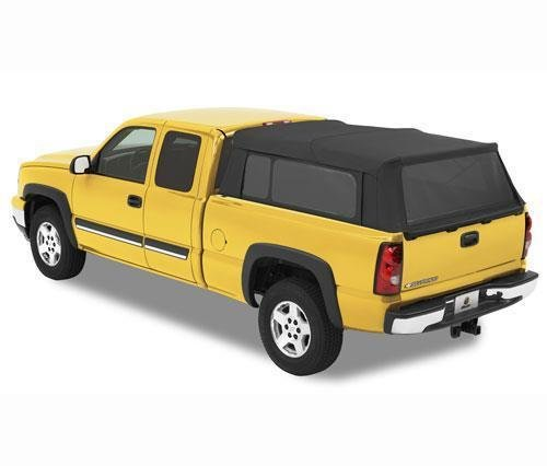Bestop 76303-35 Black Diamond Supertop for Truck Bed Cover for 1999-2017 Chevy Silverado/GMC Sierra 1500/2500/3500, 6.5' bed
