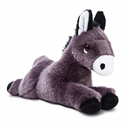Aurora World Luv to Cuddle Donkey Plush Toy (Black/White) by Aurora