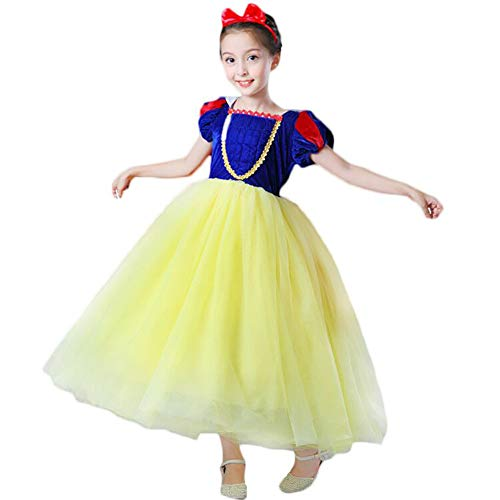 CQDY Snow White Costume for Girls Dress up Princess Dress Halloween/Party/Christmas Special Occasion for 2-3T Flannel