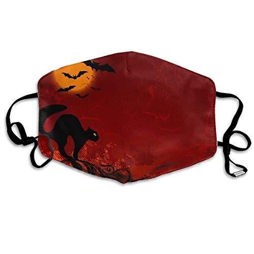 (Tuoneng Black Cat Halloween Printed Mouth Masks Anti-dust Masks Reusable Face)