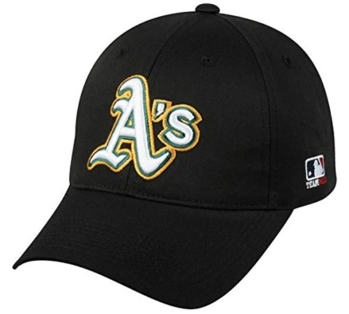 Mlb Logo Caps - OC Sports Oakland Athletics MLB Hat Cap Black/White A's Logo Adult Men's Adjustable