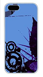 Apple iPhone 5S Case and Cover - Abstract Vector Hard Plastic Case for iPhone 5/5S - White